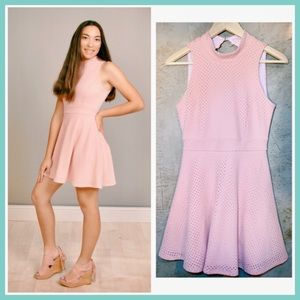 Soft Pink High Neck Spring Easter Summer Dress